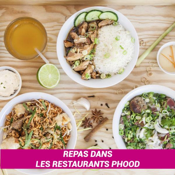 Bons valables dans les restaurants PHOOD