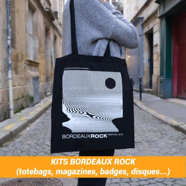 Kits Bordeaux Rock : (disques, magazines, totebags, badges... )