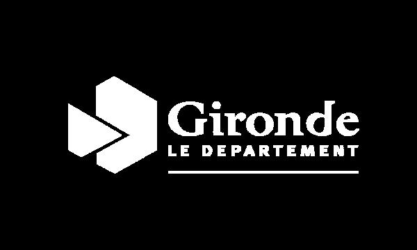 Logo Gironde Blanc